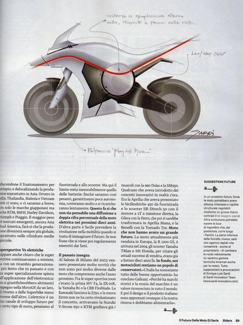 Riders Magazine, Comme seranno le moto del futuro?, Enrique Luis Sardi