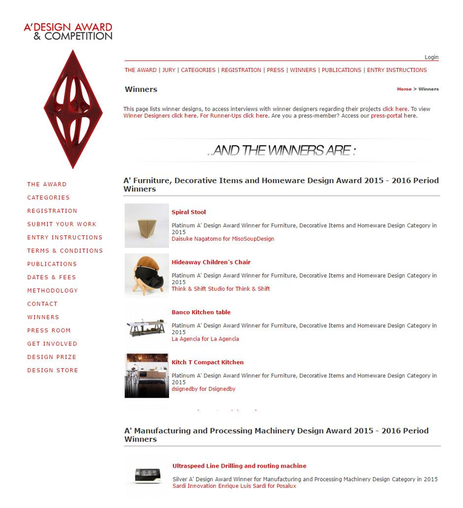 Ultraspeed, posalux, Adesign winner, Sardi Innovation