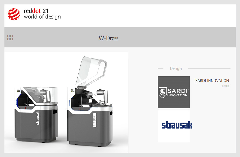 reddot 21, Strausak, Wdress, W-dress, Sardi Innovation, design team